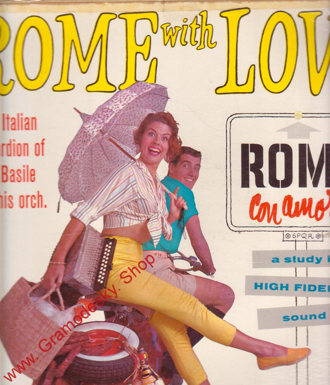 LP Rome with Love, the Italian Accordion of Jo Basile and his otch., 1957