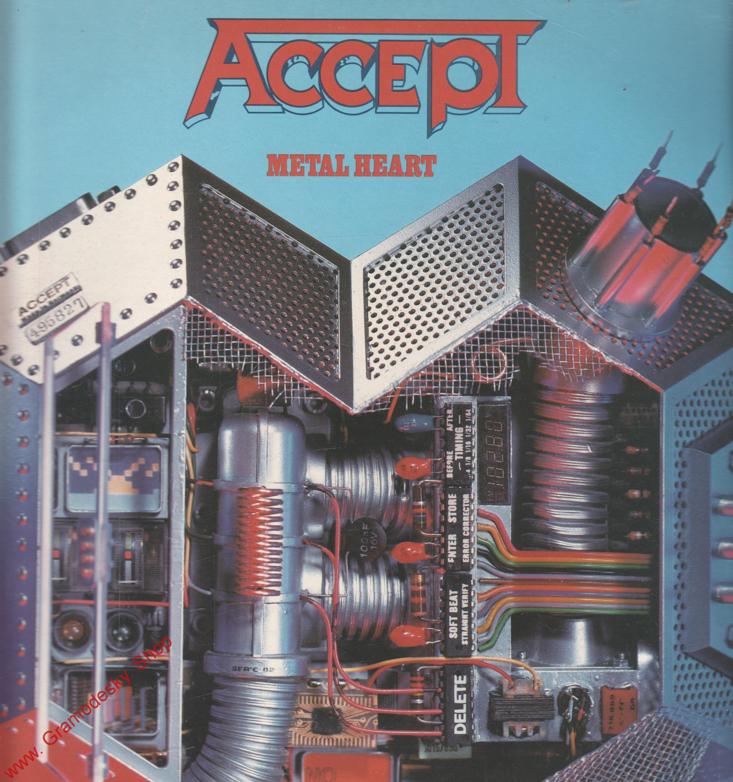 LP Accept, Metal Heart, 1985, Polydor 825 393 4