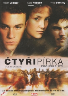 DVD Čtaři pírka, Zkouška cti, Heath Ledger, Kate Hudson, Wes Bentley, 2002