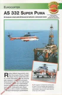 Skupina 3, karta 034 / AS 332 Super Puma Eurocopter / 2001
