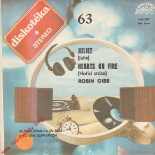 SP Diskotéka 063, Robin Gibb, Juliet, Hearts on Fire, 1143 2822, 1983