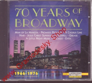CD 70 Years of Broadway, 1966 - 1976, USA