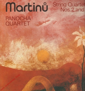 LP Bohuslav Martinů, String Quartets Nos, 2 and 3, Panocha Quartet, 1983
