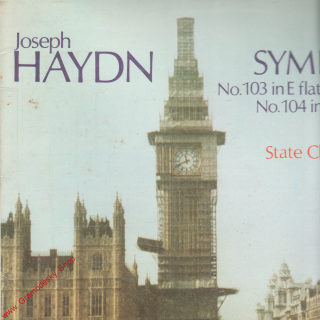 LP Joseph Haydn, symphonies no. 103 in E flat major, 1986, Opus 9110 1578