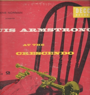 LP Louis Armstrong At The Crescendo, Gena Norman, Decca Hifi