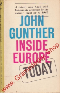 Inside Europe Today / John Gunther, 1961 anglicky