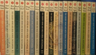 The Golden Home and High School Encyclopedia Complete Set Volumes 1-20 anglicky