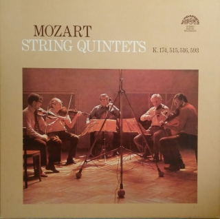 LP 3album Wolfgang Amadeus Mozart, String Quintets, K. 174, 515, 516, 593 stereo